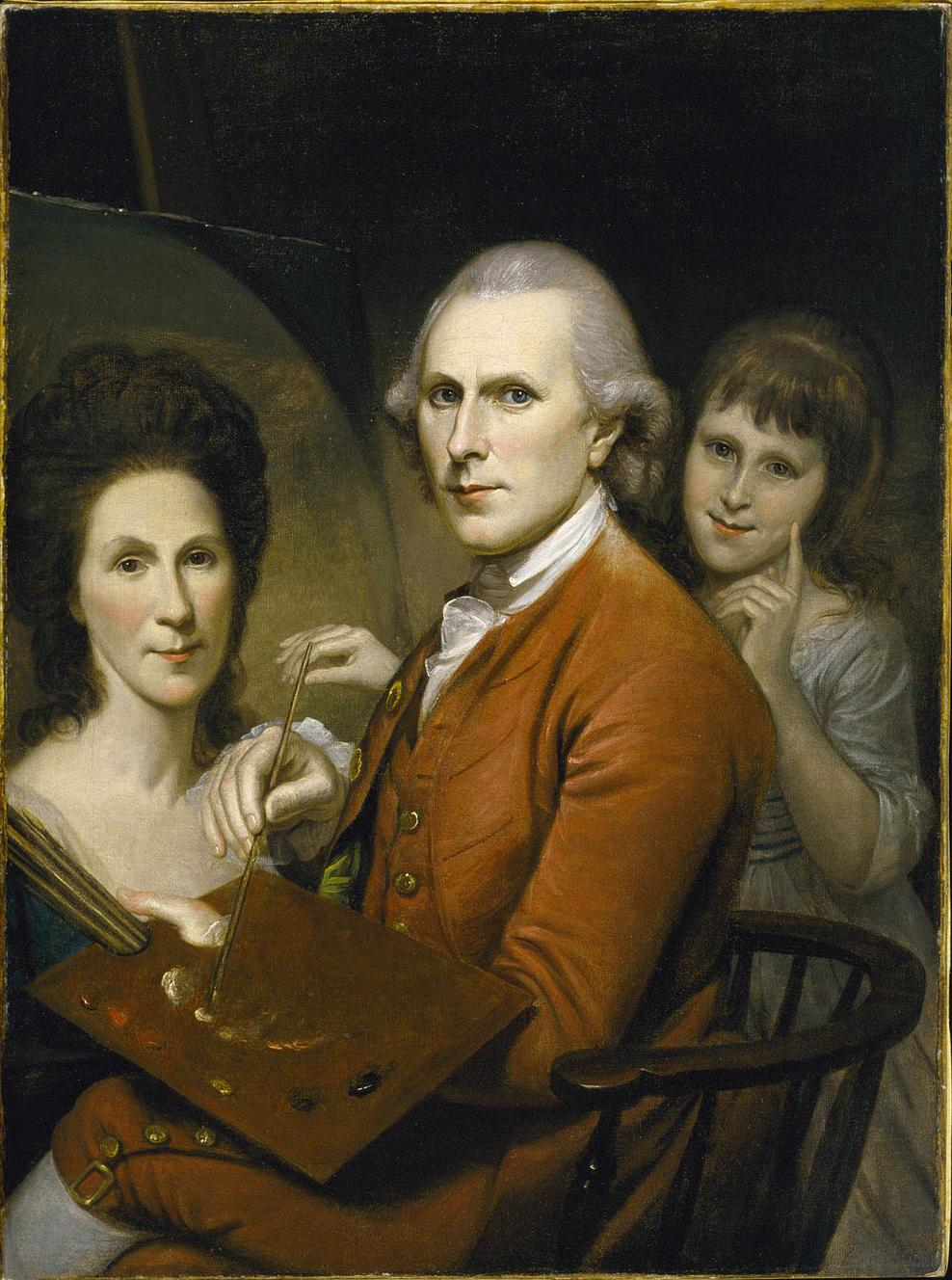 Self-Portrait with Angelica and Portrait of Rachel Charles Willson Peale c.1782-1785, The Museum of Fine Arts, Houston