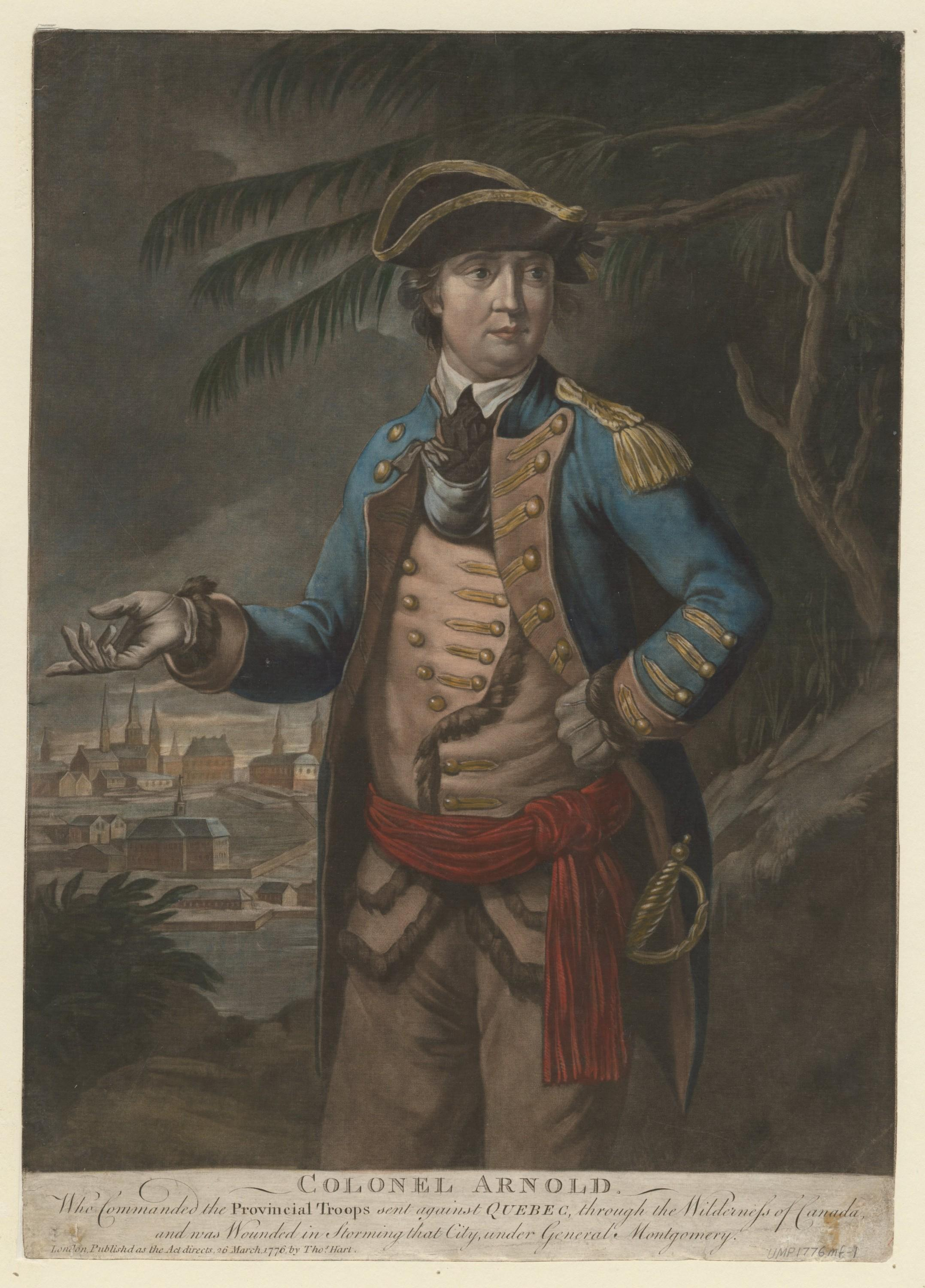 Colonel Arnold, Thomas Hart, 1776, Prints, Drawings and Watercolors from the Anne S.K. Brown Military Collection. Brown Digital Repository. Brown University Library.