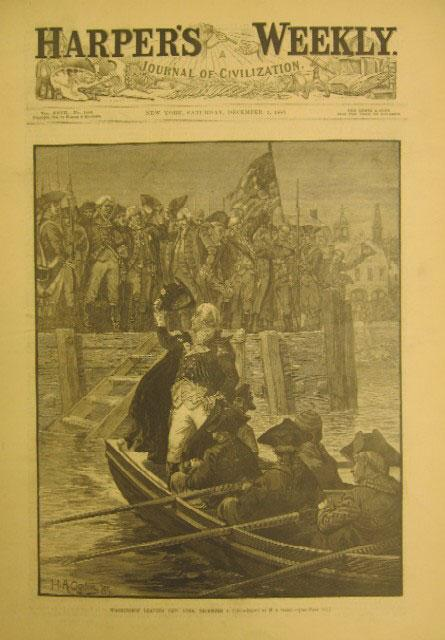 Washington Leaving New York December 4, 1783, Harper's Weekly, 1 January 1883.