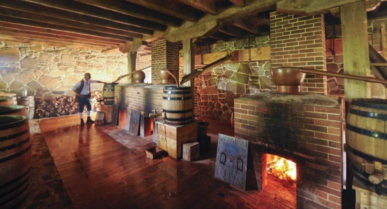 Recreation of Washington's Distillery at Mount Vernon