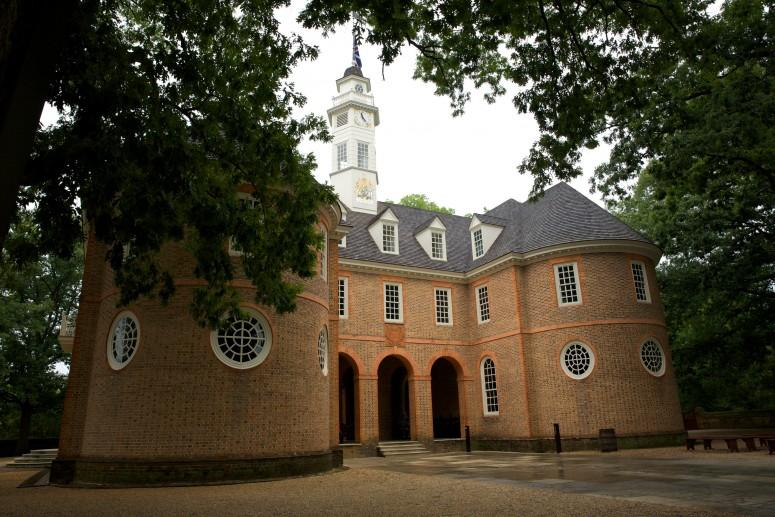 The House of Burgesses in Williamsburg, Virginia