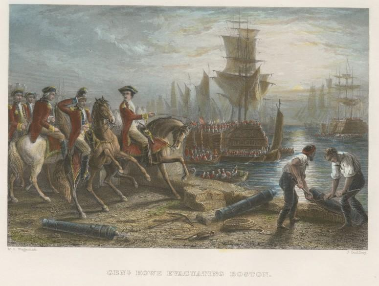 Gen. Howe and the British Forces Departing Boston in 1776  (Anne S.K. Brown Military Collection)