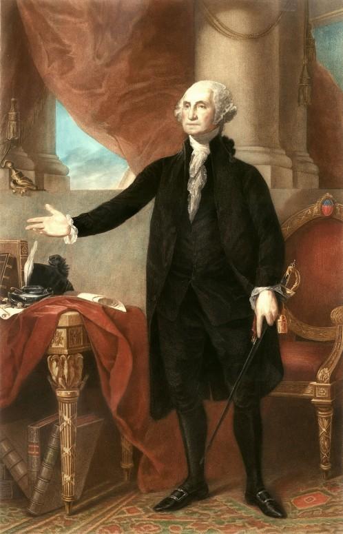 The Lansdowne Portrait of George Washington as President, by Gilbert Stuart, 1796.