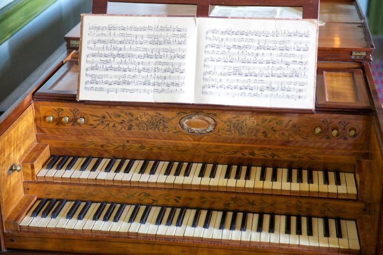 Nelly Custis Harpsichord in the Mansion at Mount Vernon