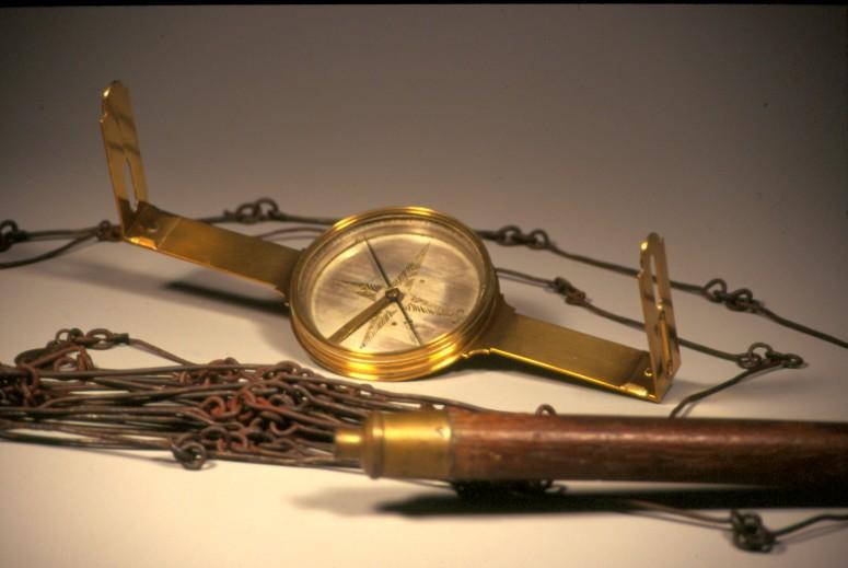 George Washington's surveying gear. Courtesy of the Mount Vernon Ladies' Association