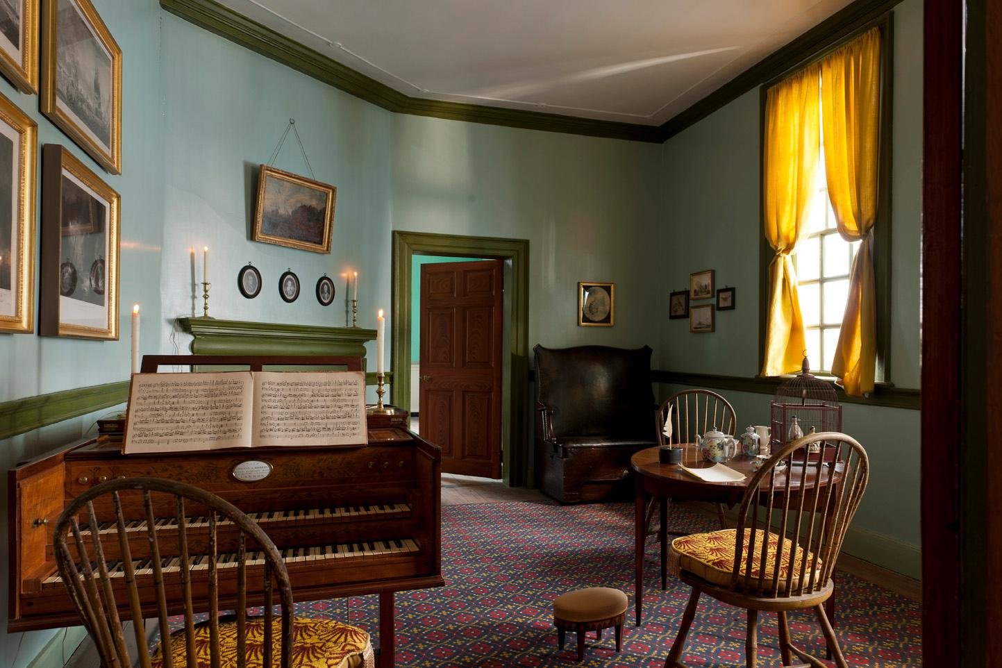 The Little Parlor within the Mount Vernon mansion