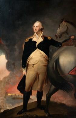 George Washington at Dorchester Heights by Jane Stuart, oil on canvas, M-5249, MVLA.