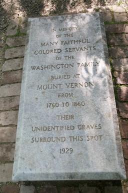 1929 Slave Memorial at Mount Vernon