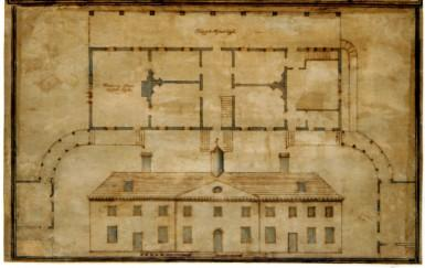"In Samuel Vaughan's plan of Mount Vernon, he labeled the room ""Drawing Room."""