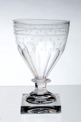 Rummer that was used to serve beer at Mount Vernon. MVLA.