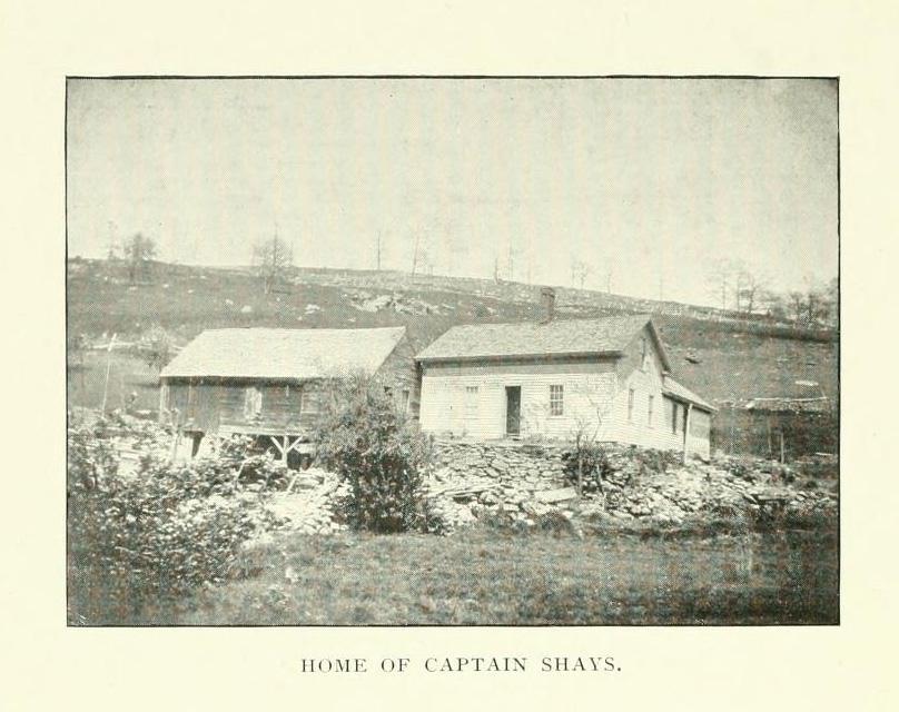 Farmhouse of Daniel Shays in Pelham, Massachusetts. C. O Parmenter, History of Pelham, Mass.: From 1738 to 1898 (Amherst, MA: Press of Carpenter & Morehouse, 1898).