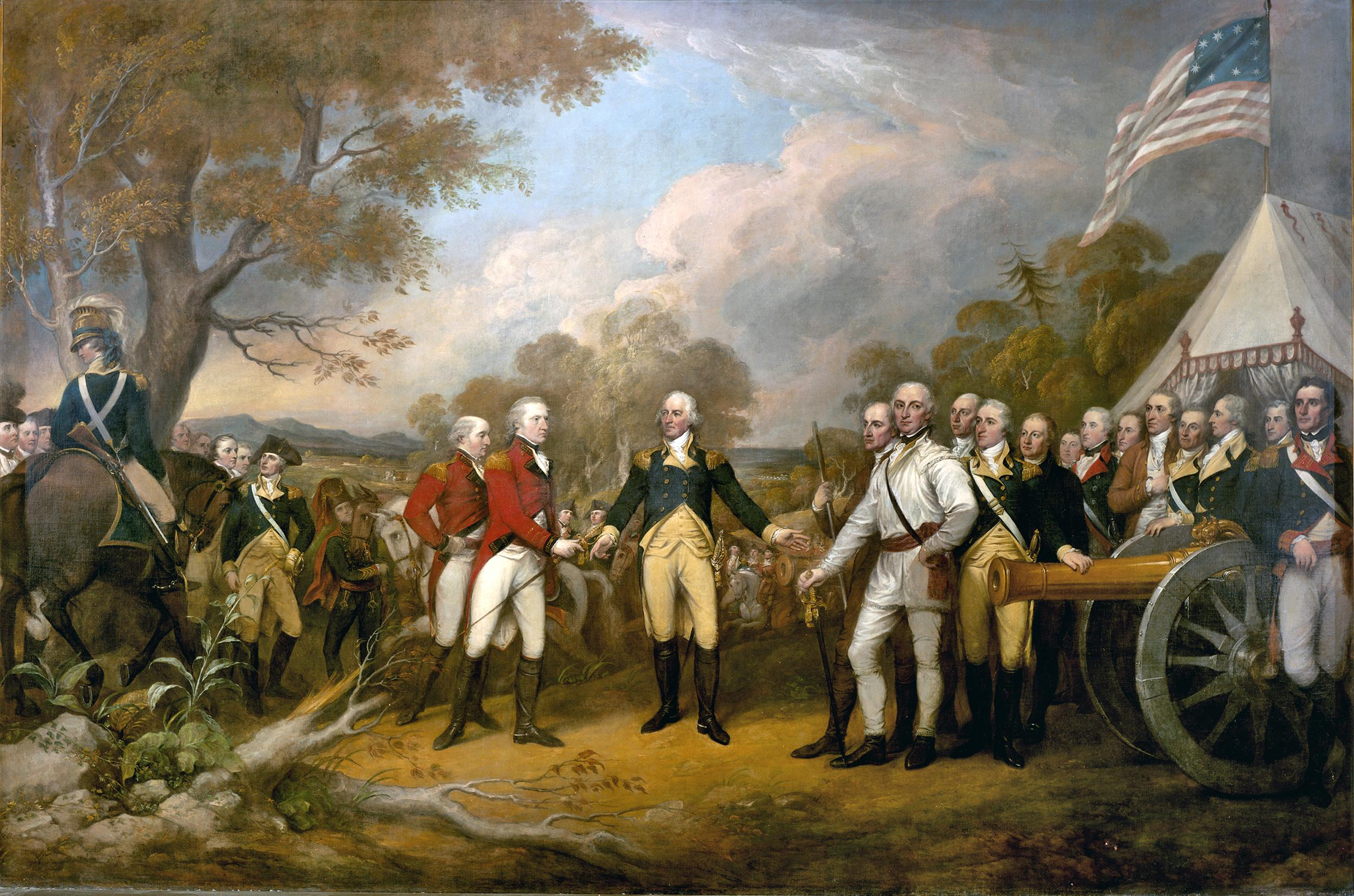 Surrender of General Burgoyne, by John Trumbull, c. 1821. Courtesy the Architect of the Capitol