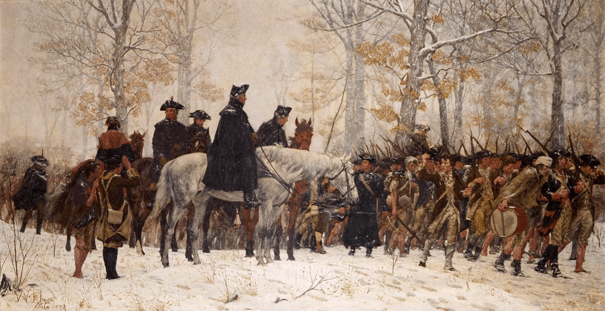 The March to Valley Forge by William Trego, 1883 (Museum of the American Revolution)
