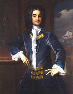 William Byrd II by Hans Hyssing, early 18th century, oil on canvas, Virginia Historical Society, 1973.6.