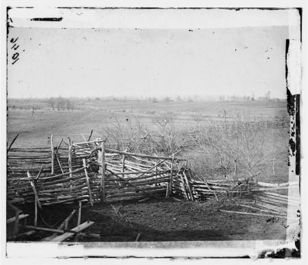 View of the battlefield at Bull Run, Virginia. 1861, Library of Congress.