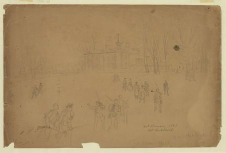 Mt Vernon, 1861. Mr Hubbard, by Alfred Waud, Library of Congress.