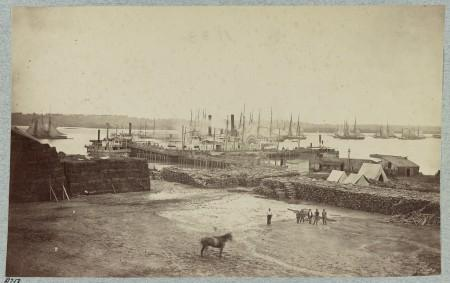 Quartermaster's Wharf, Alexandria, Virginia, with steamer, Library of Congress.