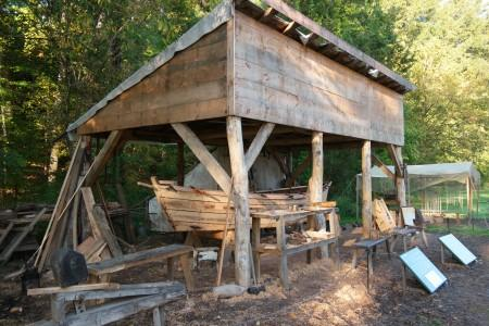 The Boat Shed on the Pioneer Farm is a Period Support Structure. MVLA.
