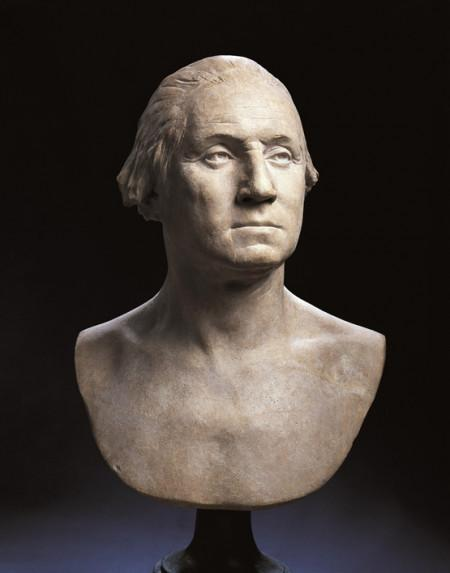 The Houdon Bust, Considered to be the most accurate likeness of George Washington, the bust has remained at Mount Vernon since its creation, one of the few original objects transferred to the Mount Vernon Ladies' Association when the organization came into possession of the estate in 1860. W-369