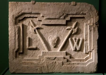 The original cornerstone can be seen in our Mount Vernon museum (MVLA)