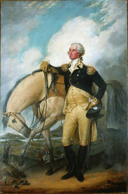 Washington at Verplanck's Point New York, 1782, Reviewing the French Troops after the Victory at Yorktown.