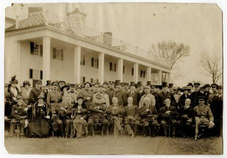 French and British Missions visit Mount Vernon, April 29, 1917, Committee on Public Information, MVLA.