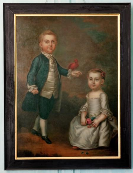 "John ""Jacky"" Parke Custis and Martha Parke Custis, By Charles Volkmar After John Wollaston, 1757."
