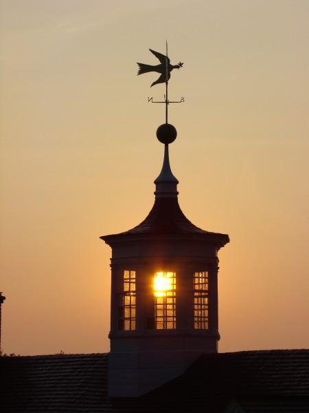 View of the cupola with its iconic dove of peace weathervane (MVLA)