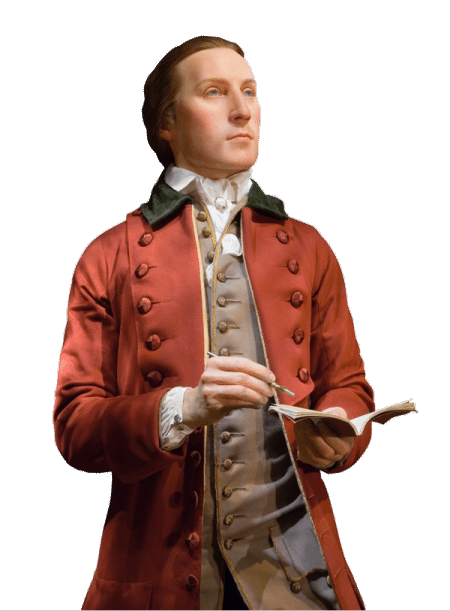 View of George Washington as a 19-year old surveyor. (MVLA)
