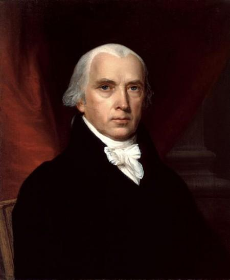 A portrait of James Madison (also known as the father of the Constitution) by John Vanderlyn (White House Historical Association)