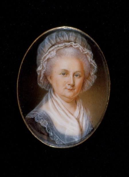 Martha Washington painted by James Peale in 1796, W-624, MVLA.
