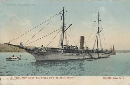 Postcard of US Yacht Mayflower
