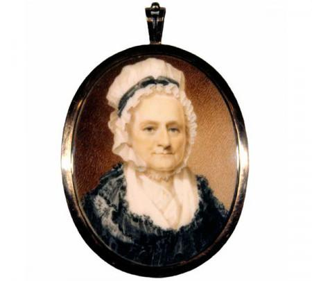 Martha Washington painted in 1801 by Robert Field is perhaps the most accurate record of Martha Washington's appearance in her final years, W-2137/A-B, MVLA.