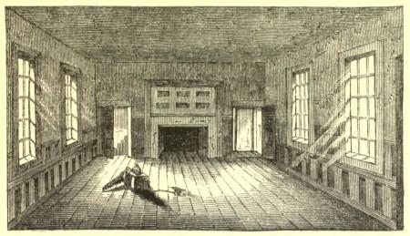1850 engraving of the Apollo Room at Raleign Tavern by Benson Lossing (Wikimedia)
