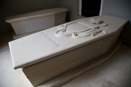 George Washington's Sarcophagus within the New Tomb at Mount Vernon