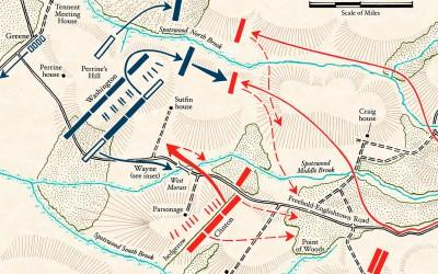 Map: Battle of Monmouth - Afternoon