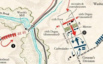 Map: The Battle of Princeton, Phases I & II