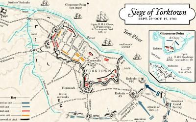 Map: The Siege of Yorktown