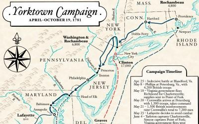 Map: The Yorktown Campaign of 1781