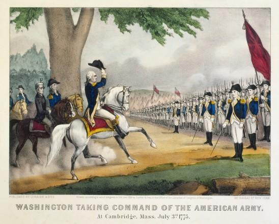 Washington Takes Command at Cambridge, Massachusetts