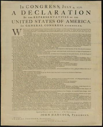 New York City and the Declaration of Independence