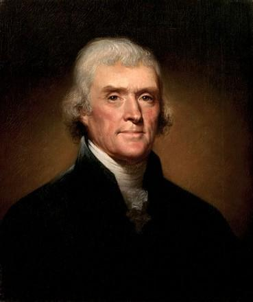 "Congratulations ""not to yourself, but to my country"" from Thomas Jefferson"