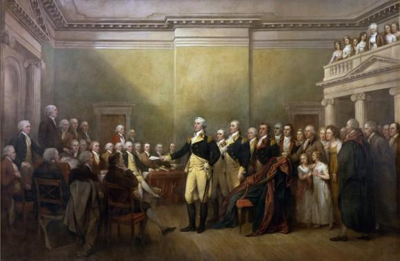 General Washington Surrenders His Commission
