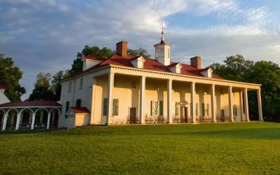 George Washingtons Herrenhaus am Mount Vernon (Westseite)