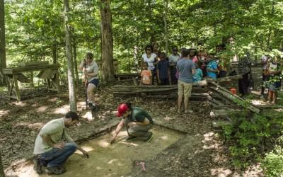Students excavate and interpret to the public as part of the University of Maryland/ Mount Vernon Historic Preservation Field School.