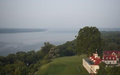 George Washington's Mount Vernon on the Potomac River.