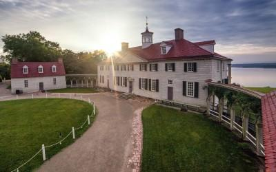 George Washingtons Herrenhaus am Mount Vernon (Ostseite)