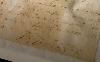 George Washington's signature is viewable at the close of the letter.