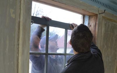 Removal of Washington-era windows.