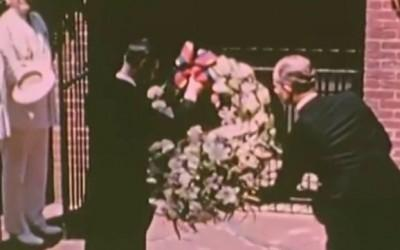 Video: King George VI laying a wreath at Washington's Tomb